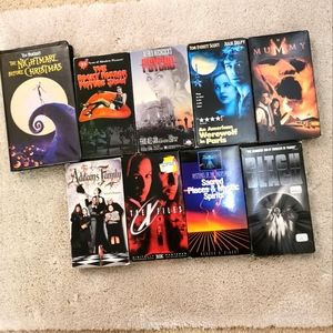 Collectible 9 scary Halloween VHS
